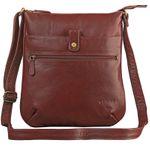 """STILORD """"Lina"""" Elegante Vintage Damen Umhängetasche Schultertasche klein Abendtasche klassische Handtasche 10.1 Zoll Tablettasche echtes Leder"""
