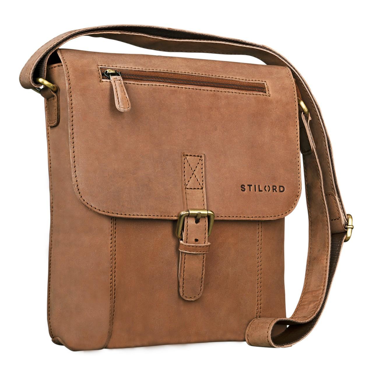 """STILORD """"Matthias"""" Herren Umhängetasche Leder Vintage Messenger Tasche 10.1 Zoll Tablettasche klein Schultertasche echtes Rinds-Leder - Bild 8"""