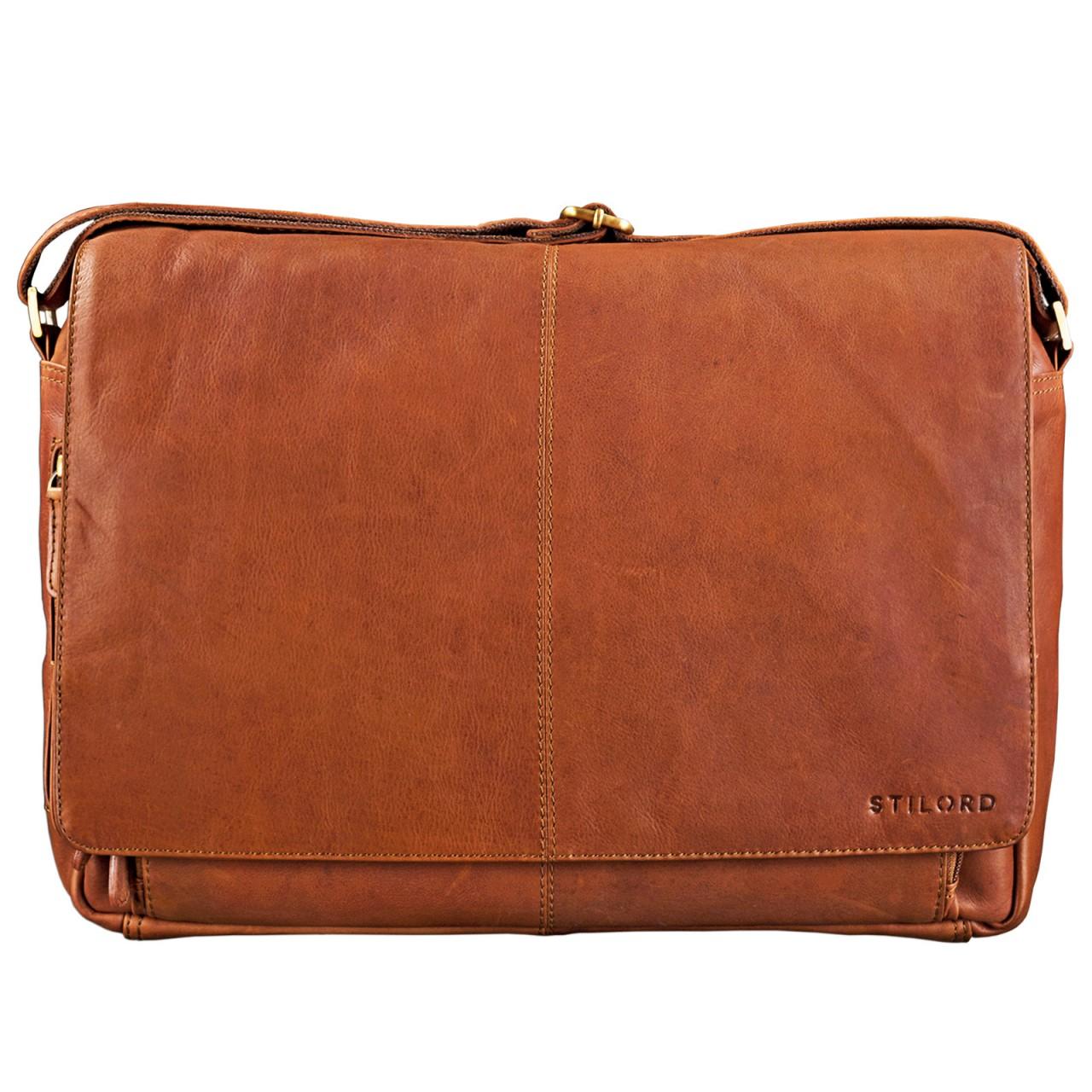 STILORD B-Ware Vintage Ledertasche Männer Frauen Businesstasche zum Umhängen 15,6 Zoll Laptoptasche Aktentasche Unitasche Umhängetasche Leder - Bild 2