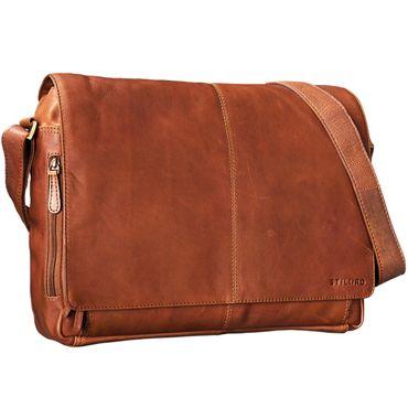 STILORD B-Ware Vintage Ledertasche Männer Frauen Businesstasche zum Umhängen 15,6 Zoll Laptoptasche Aktentasche Unitasche Umhängetasche Leder
