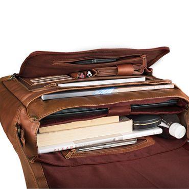 STILORD B-Ware Vintage Ledertasche Männer Frauen Businesstasche zum Umhängen 15,6 Zoll Laptoptasche Aktentasche Unitasche Umhängetasche Leder – Bild 7