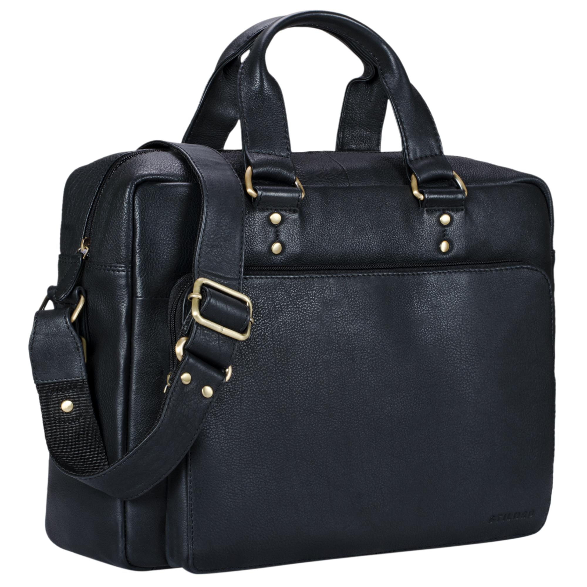 """STILORD """"Joshua"""" Vintage Businesstasche Leder groß Herren Laptoptasche 13.3 Zoll Bürotasche Aktentasche Dokumententasche Umhängetasche echtes Rinds-Leder - Bild 11"""