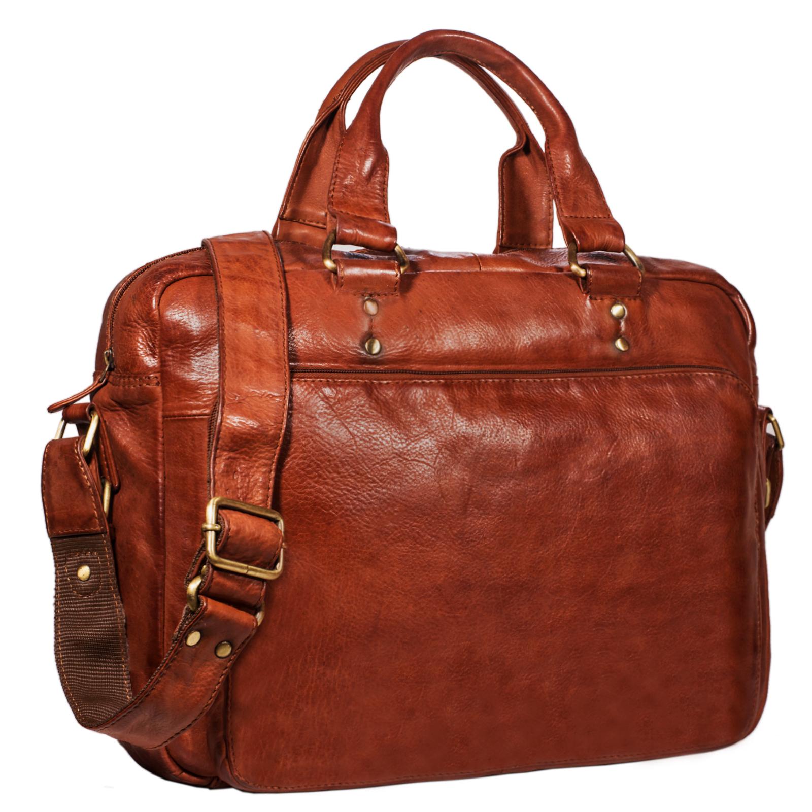 """STILORD """"Joshua"""" Vintage Businesstasche Leder groß Herren Laptoptasche 13.3 Zoll Bürotasche Aktentasche Dokumententasche Umhängetasche echtes Rinds-Leder - Bild 10"""