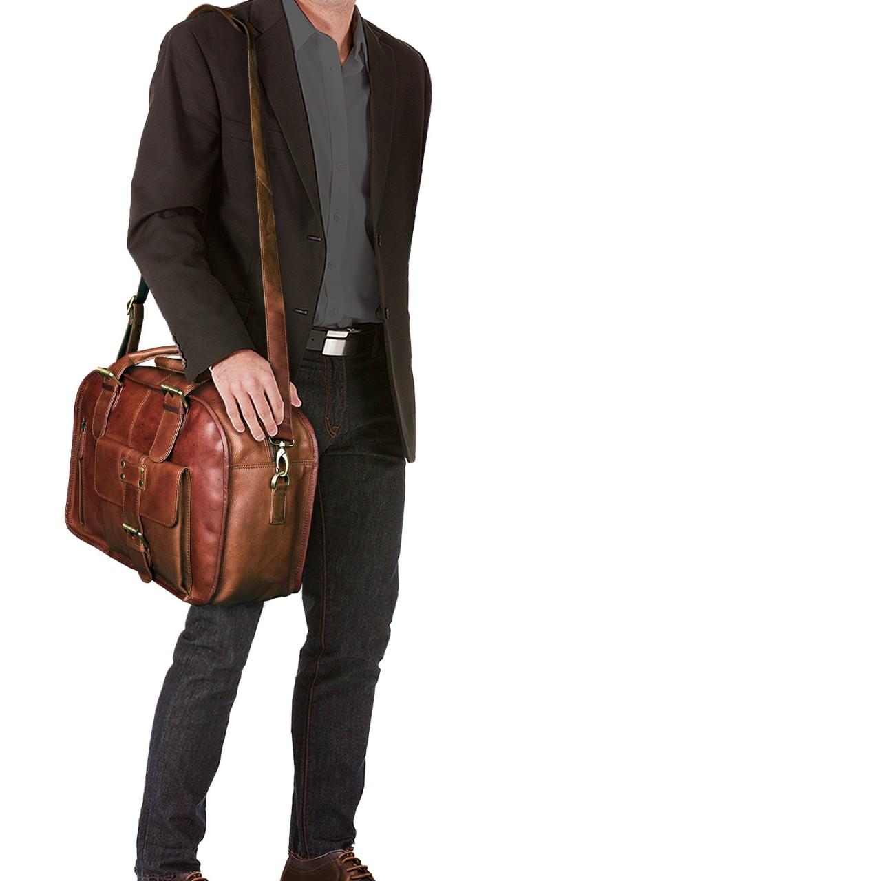 """STILORD """"Dominique"""" Aktentasche Leder Damen Herren Lehrertasche Zwei Aktenordner Business Arbeit Büro Umhängetasche Vintage Leder - Bild 14"""