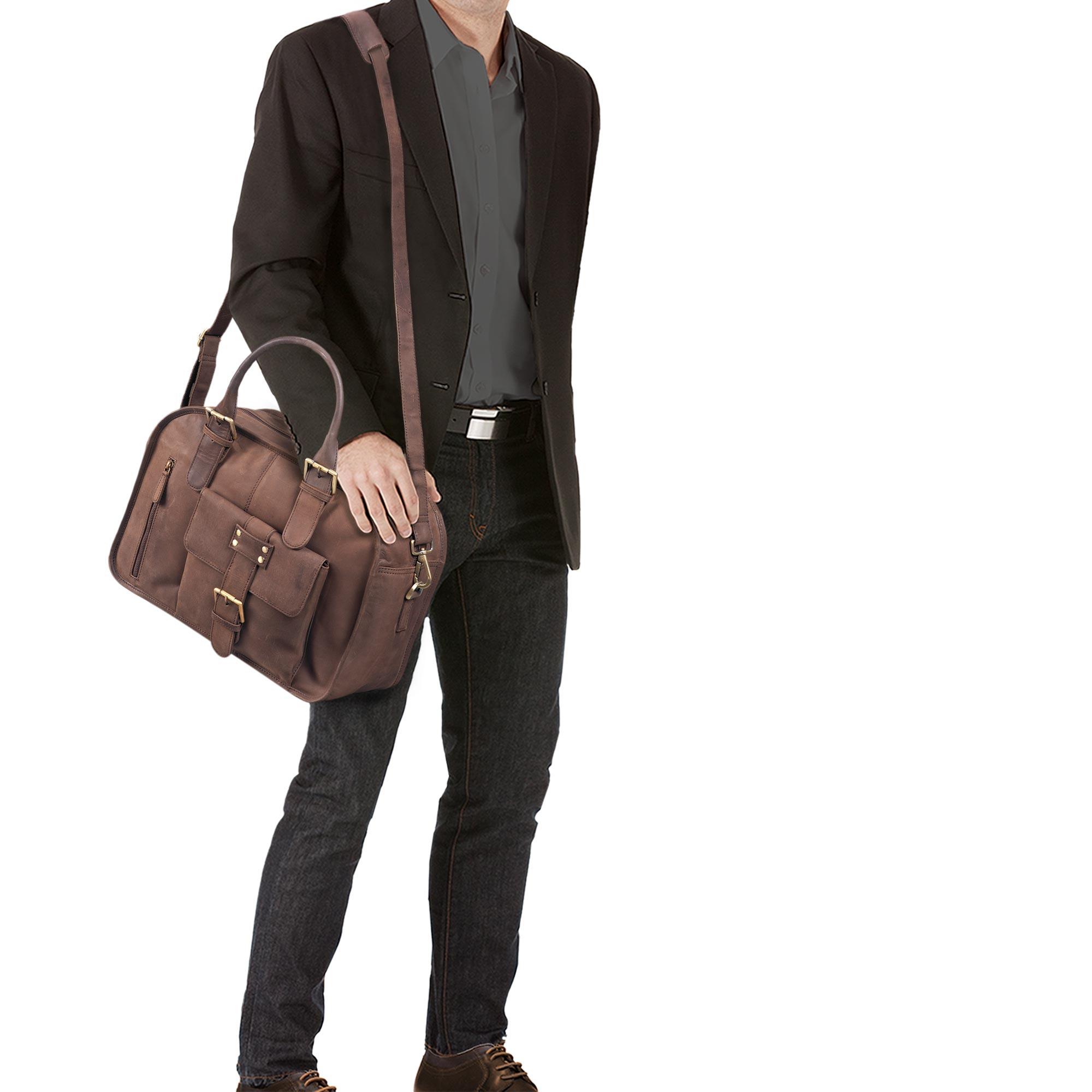 """STILORD """"Dominique"""" Aktentasche Leder Damen Herren Lehrertasche Zwei Aktenordner Business Arbeit Büro Umhängetasche Vintage Leder - Bild 23"""