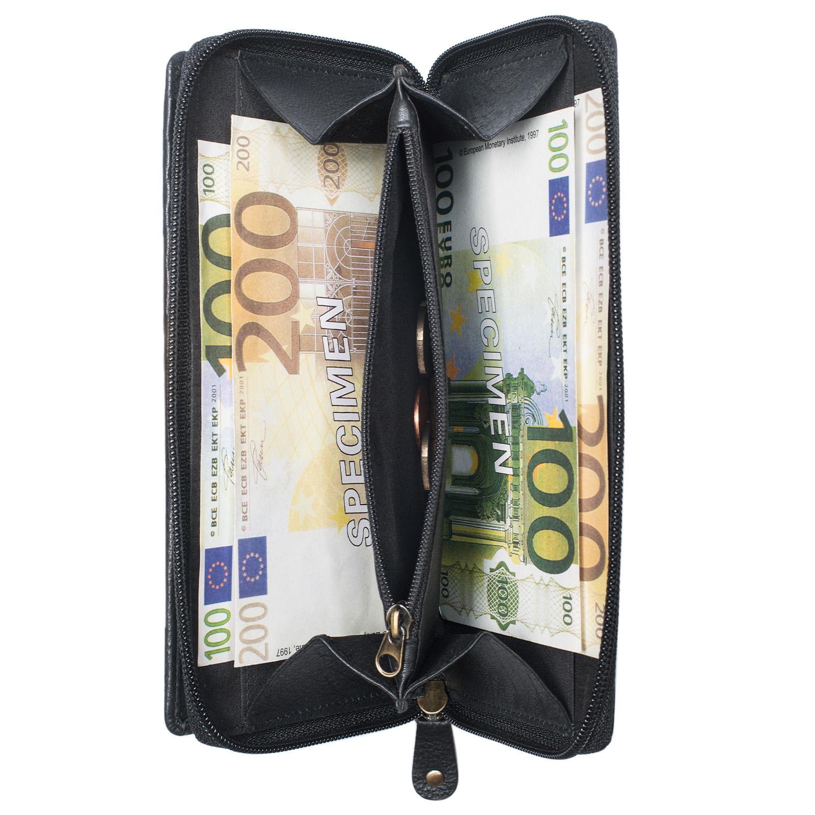 """STILORD """"Dana"""" Damen Geldbörse lang Leder Vintage Portemonnaie im Querformat große Brieftasche mit Reißverschluss für Kleingeld EC-Karten echtes Rindsleder - Bild 11"""