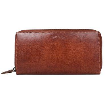 """STILORD """"Dana"""" Damen Geldbörse lang Leder Vintage Portemonnaie im Querformat große Brieftasche mit Reißverschluss für Kleingeld EC-Karten echtes Rindsleder"""