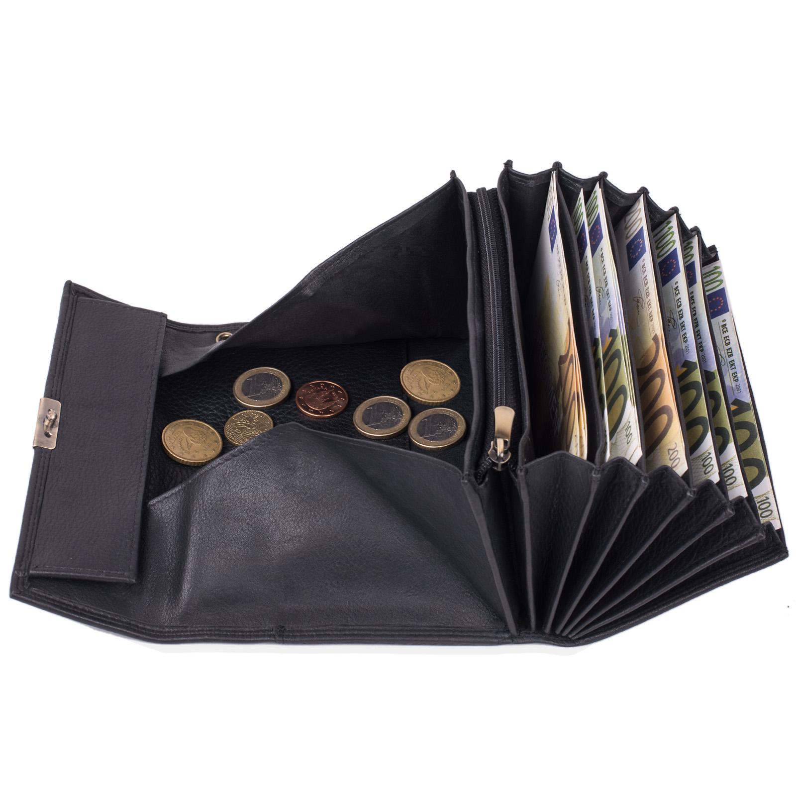 Kellner Set Geldbörse groß Vintage Leder Kleingeldfach
