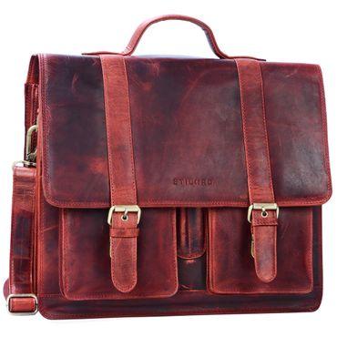 """STILORD """"Marius"""" Klassische Lehrertasche Leder Schultasche XL groß Aktentasche zum Umhängen Businesstasche Laptoptasche echtes Rindsleder  – Bild 25"""
