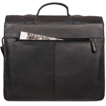 """STILORD """"Marius"""" Klassische Lehrertasche Leder Schultasche XL groß Aktentasche zum Umhängen Businesstasche Laptoptasche echtes Rindsleder  – Bild 20"""