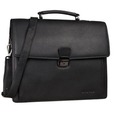 """STILORD """"Noel"""" Aktentasche Leder Herren Vintage groß klassische Arbeitstasche Bürotasche Umhängetasche Dokumententasche mit Laptopfach 13,3 Zoll und Trolleyschlaufe – Bild 9"""