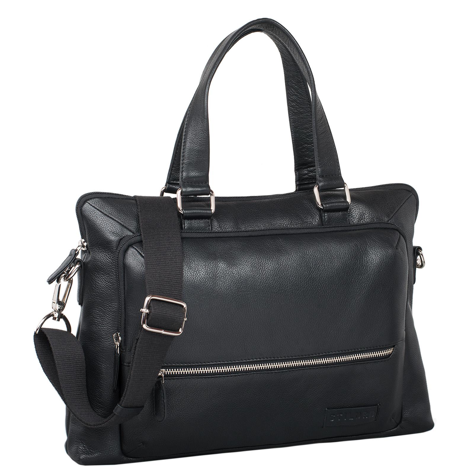 """STILORD """"Lean"""" Umhängetasche Herren Damen Leder groß Handtasche klassische Bürotasche Arbeit Business Unitasche DIN A4 Laptoptasche MacBook 13,3 Zoll echtes Rindsleder - Bild 10"""