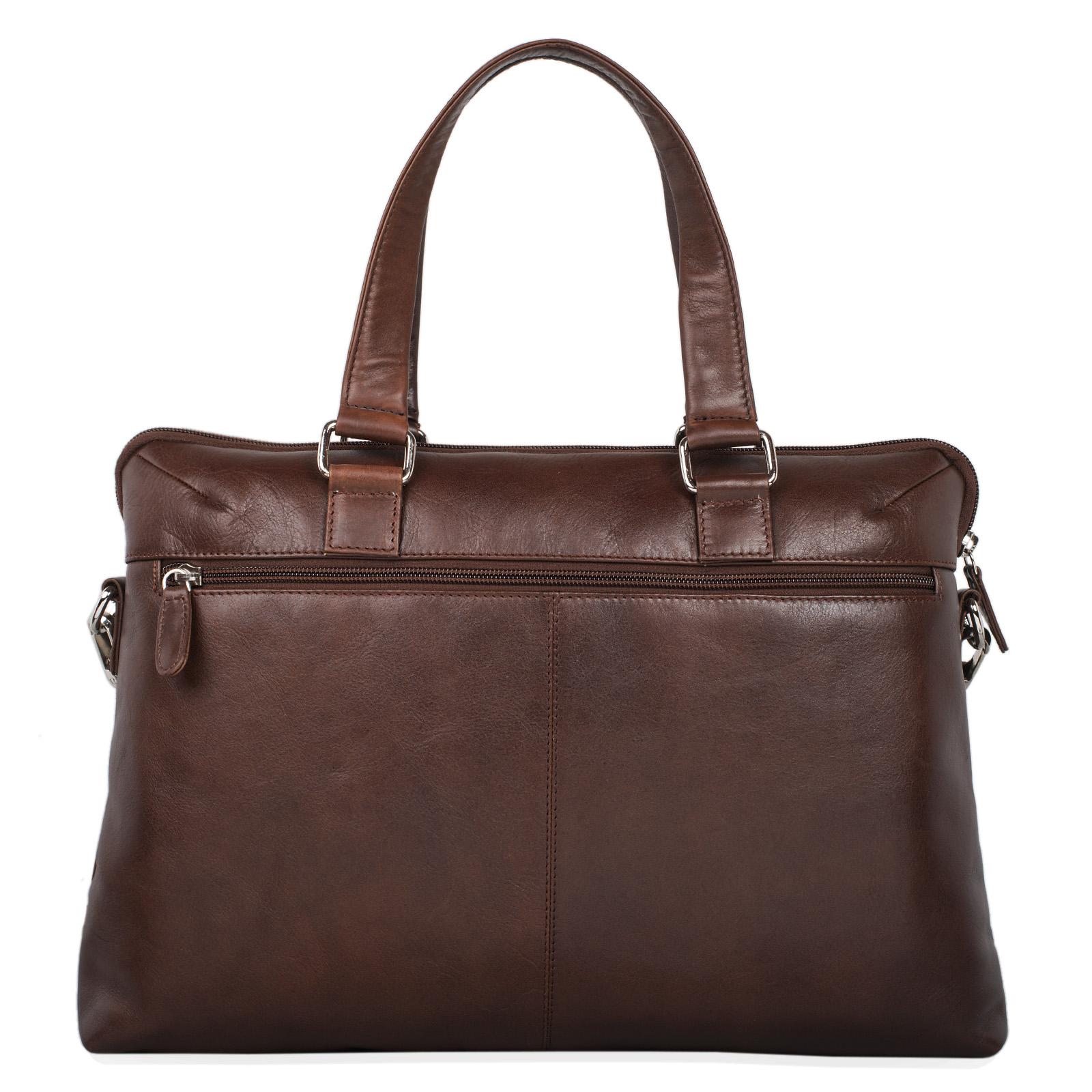 Repräsentative Business Bag Büro Leder schwarz