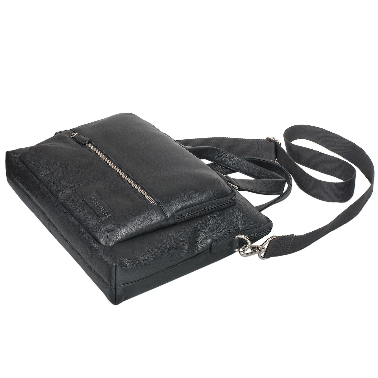"""STILORD """"Lean"""" Umhängetasche Herren Damen Leder groß Handtasche klassische Bürotasche Arbeit Business Unitasche DIN A4 Laptoptasche MacBook 13,3 Zoll echtes Rindsleder - Bild 13"""