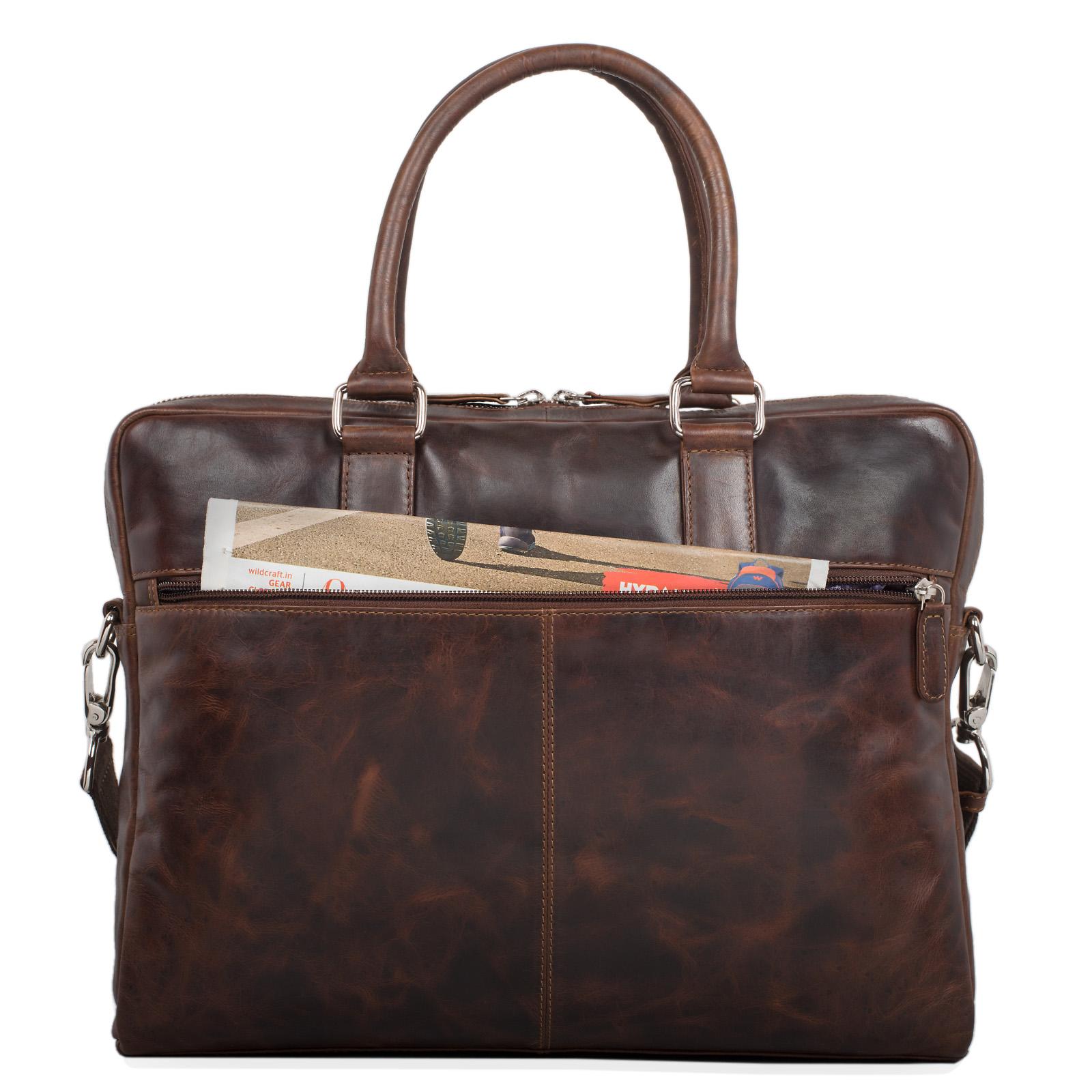 """STILORD """"Emilio"""" Umhängetasche Leder Vintage groß Schultertasche elegante Handtasche für Büro Business Arbeit Laptop 13.3 Zoll Aktentasche DIN A4 - Bild 21"""