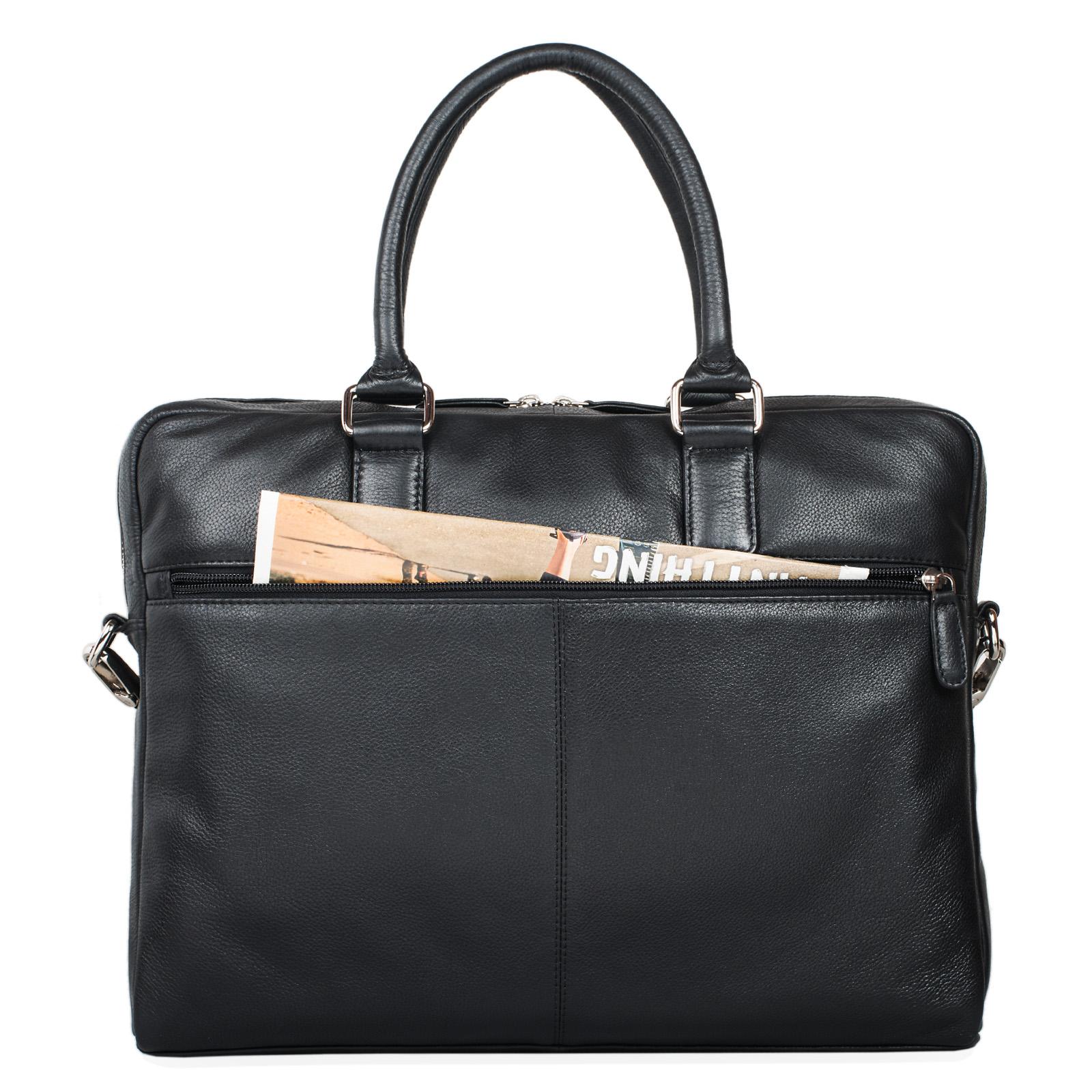 """STILORD """"Emilio"""" Umhängetasche Leder Vintage groß Schultertasche elegante Handtasche für Büro Business Arbeit Laptop 13.3 Zoll Aktentasche DIN A4 - Bild 14"""