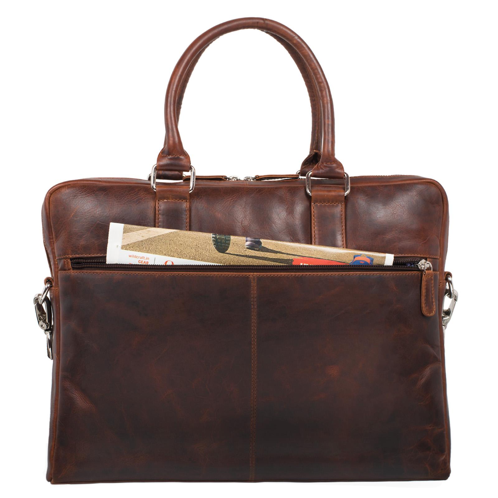 Handtasche Herren Damen Business elegant schwarz Leder