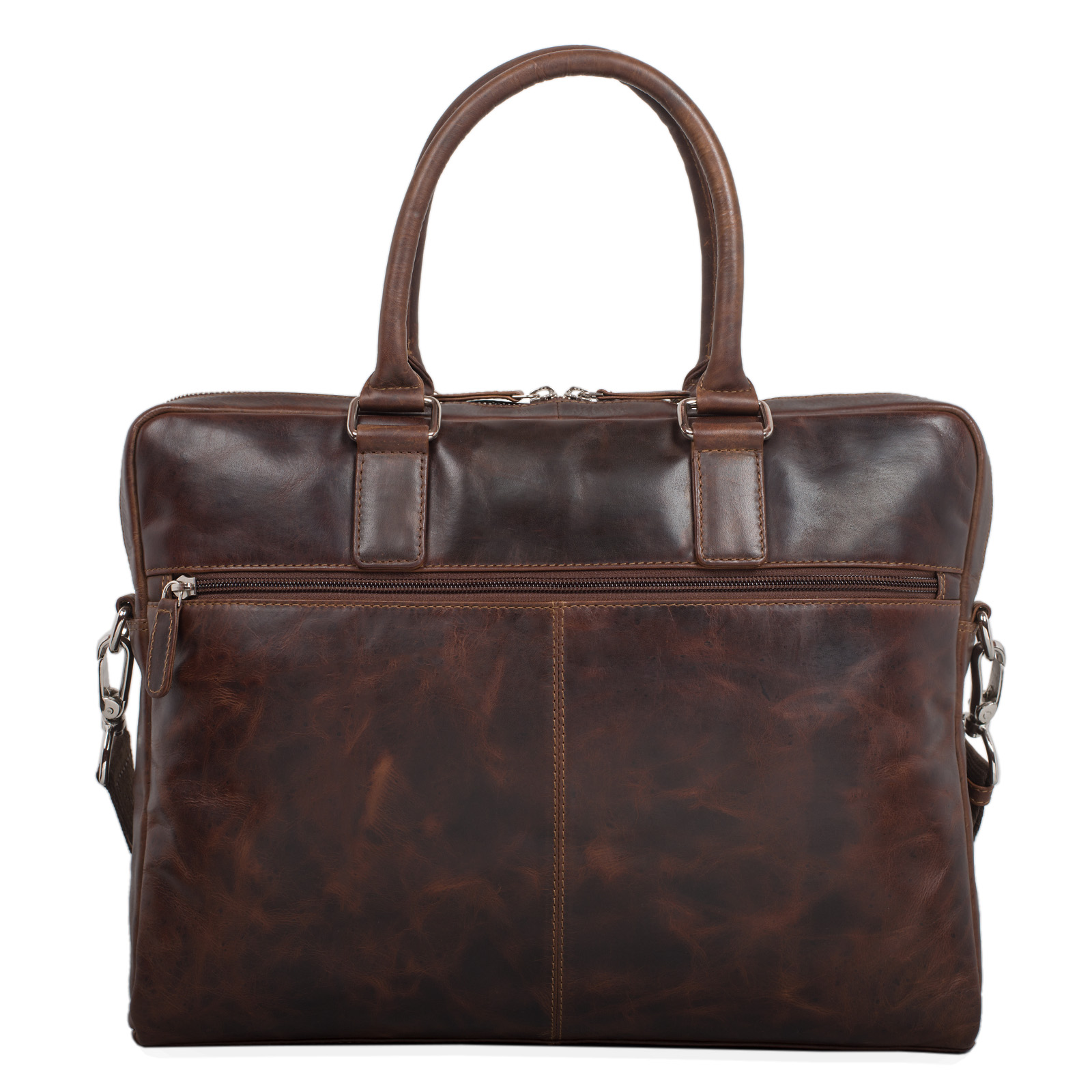 """STILORD """"Emilio"""" Umhängetasche Leder Vintage groß Schultertasche elegante Handtasche für Büro Business Arbeit Laptop 13.3 Zoll Aktentasche DIN A4 - Bild 20"""