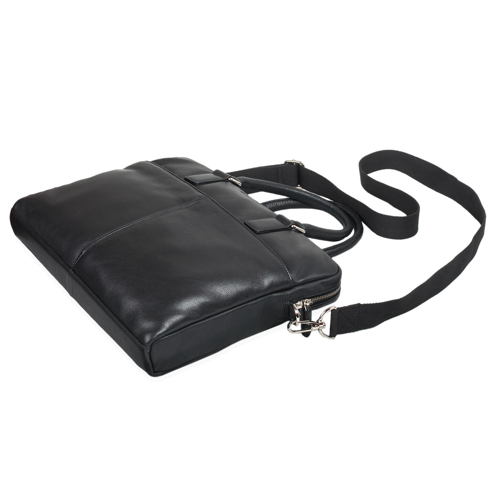 """STILORD """"Emilio"""" Umhängetasche Leder Vintage groß Schultertasche elegante Handtasche für Büro Business Arbeit Laptop 13.3 Zoll Aktentasche DIN A4 - Bild 12"""