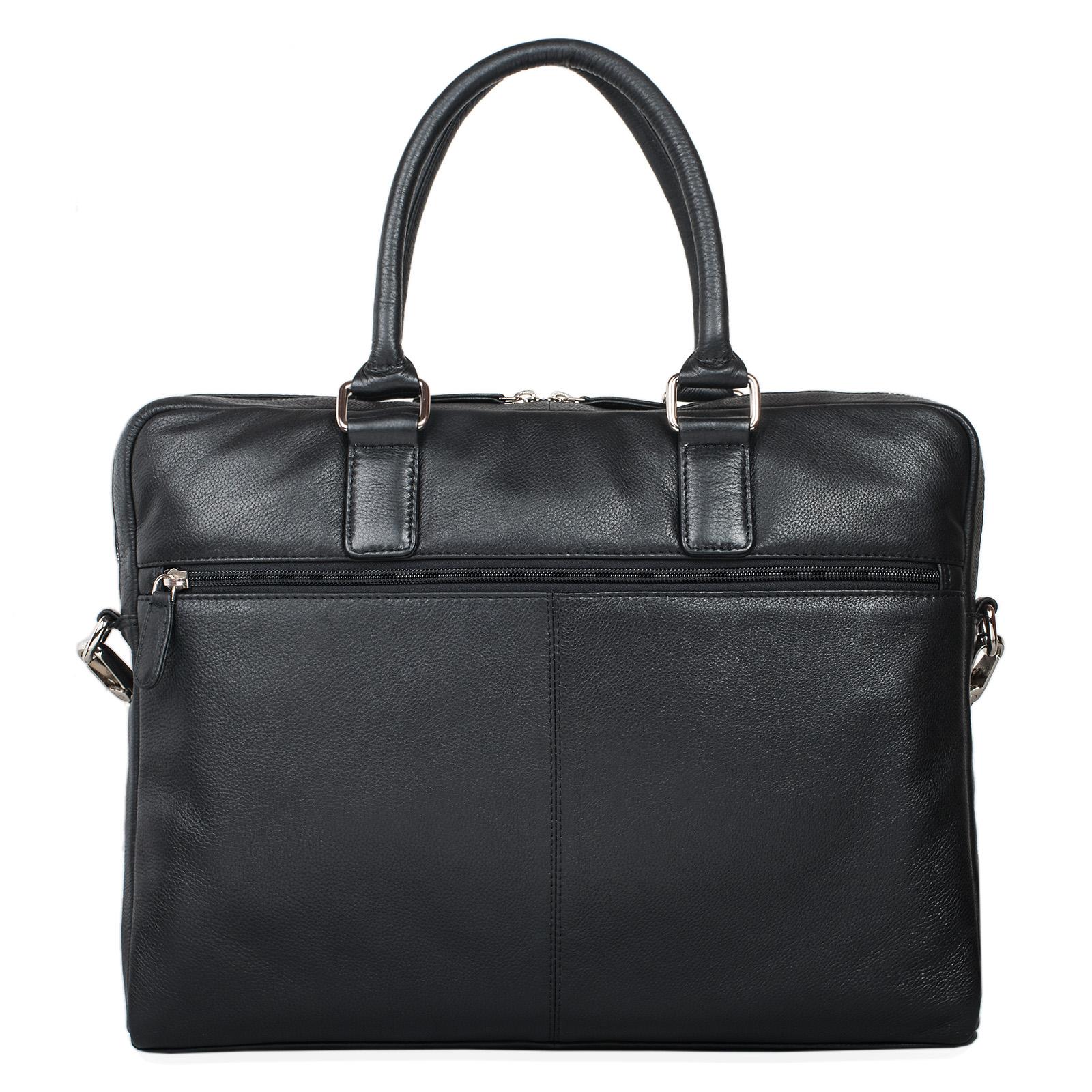 """STILORD """"Emilio"""" Umhängetasche Leder Vintage groß Schultertasche elegante Handtasche für Büro Business Arbeit Laptop 13.3 Zoll Aktentasche DIN A4 - Bild 13"""
