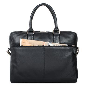 """STILORD """"Emilio"""" Umhängetasche Leder Vintage groß Schultertasche elegante Handtasche für Büro Business Arbeit Laptop 13.3 Zoll Aktentasche DIN A4 – Bild 14"""