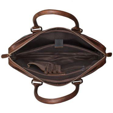"""STILORD """"Emilio"""" Umhängetasche Leder Vintage groß Schultertasche elegante Handtasche für Büro Business Arbeit Laptop 13.3 Zoll Aktentasche DIN A4 – Bild 17"""