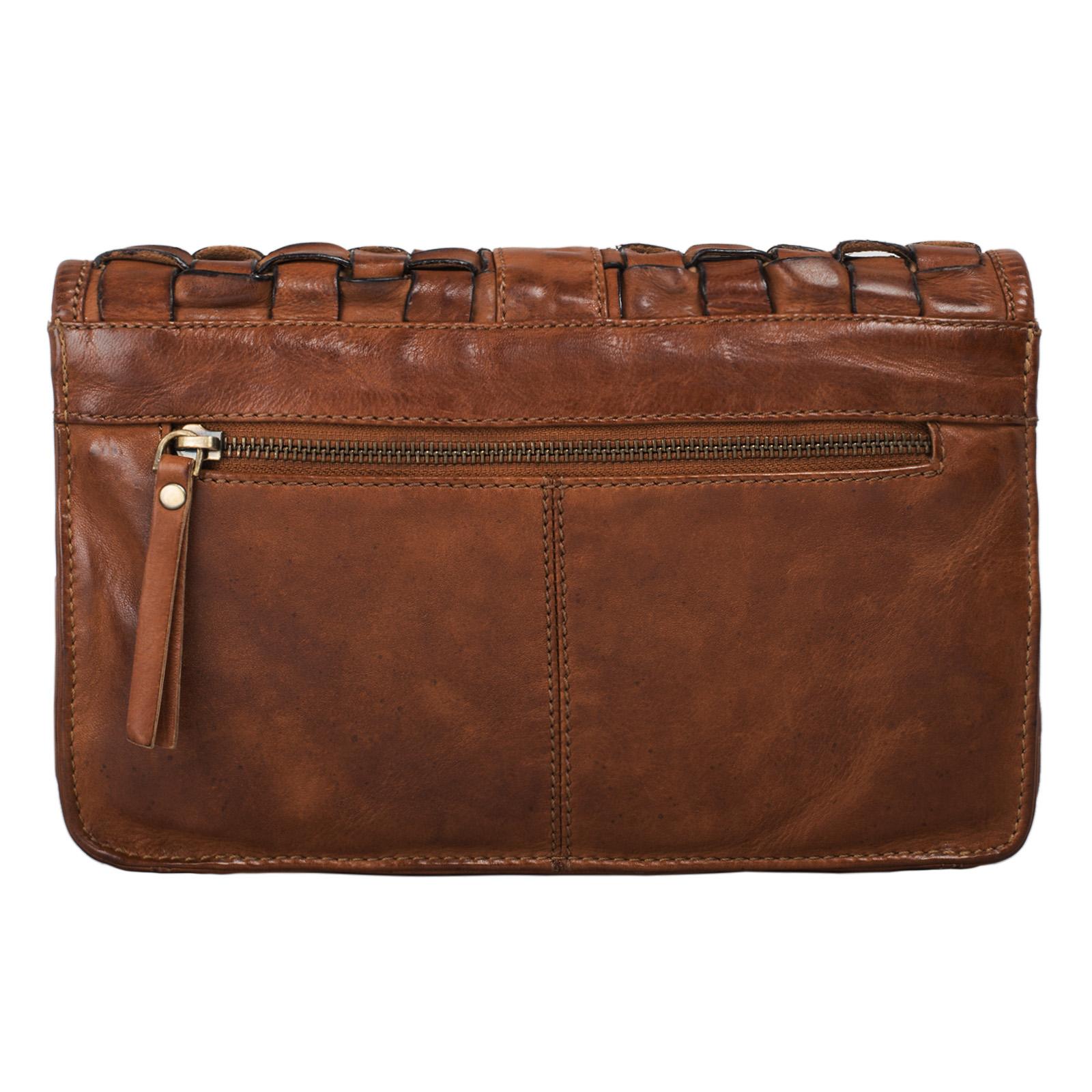 Geflochtene Damen Handtasche zum Ausgehen Leder