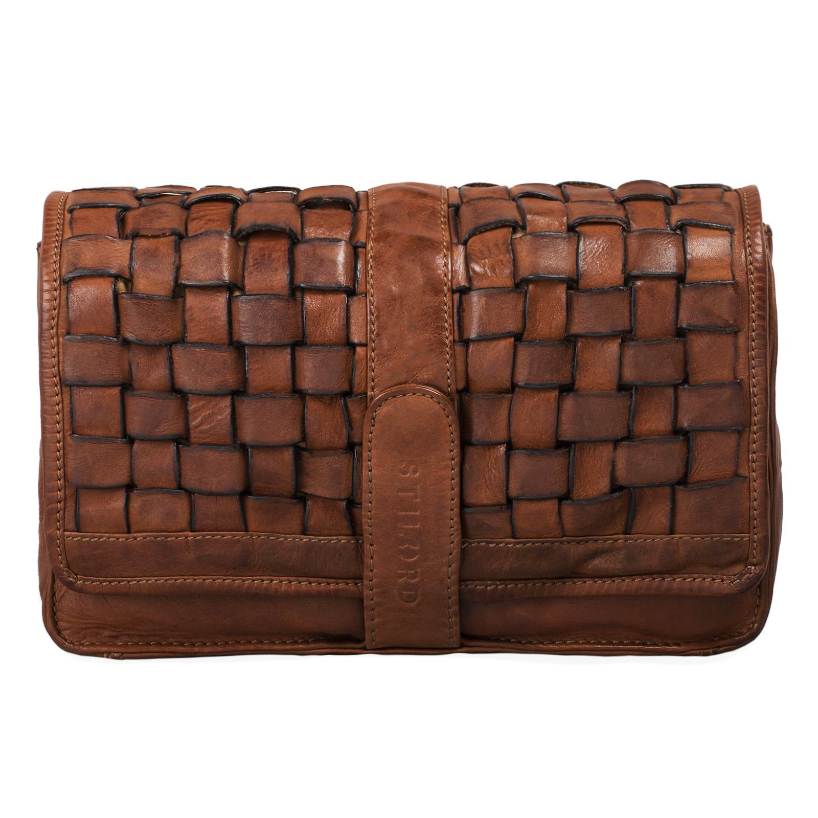 Leder Vintage Handtasche für Frauen klein braun