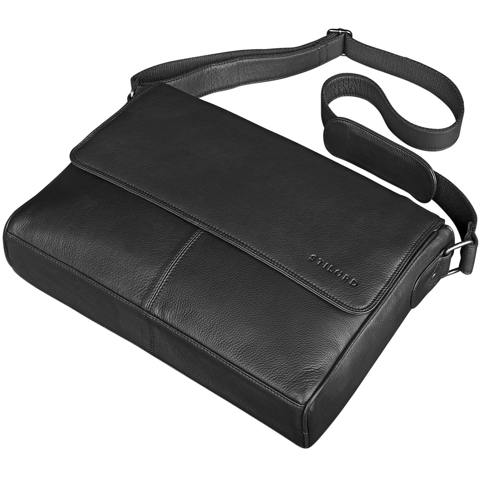 "STILORD ""Oskar"" Umhängetasche aus echtem Rinds-Leder Unisex Messenger Bag Business Unitasche Bürotasche Leder  - Bild 17"
