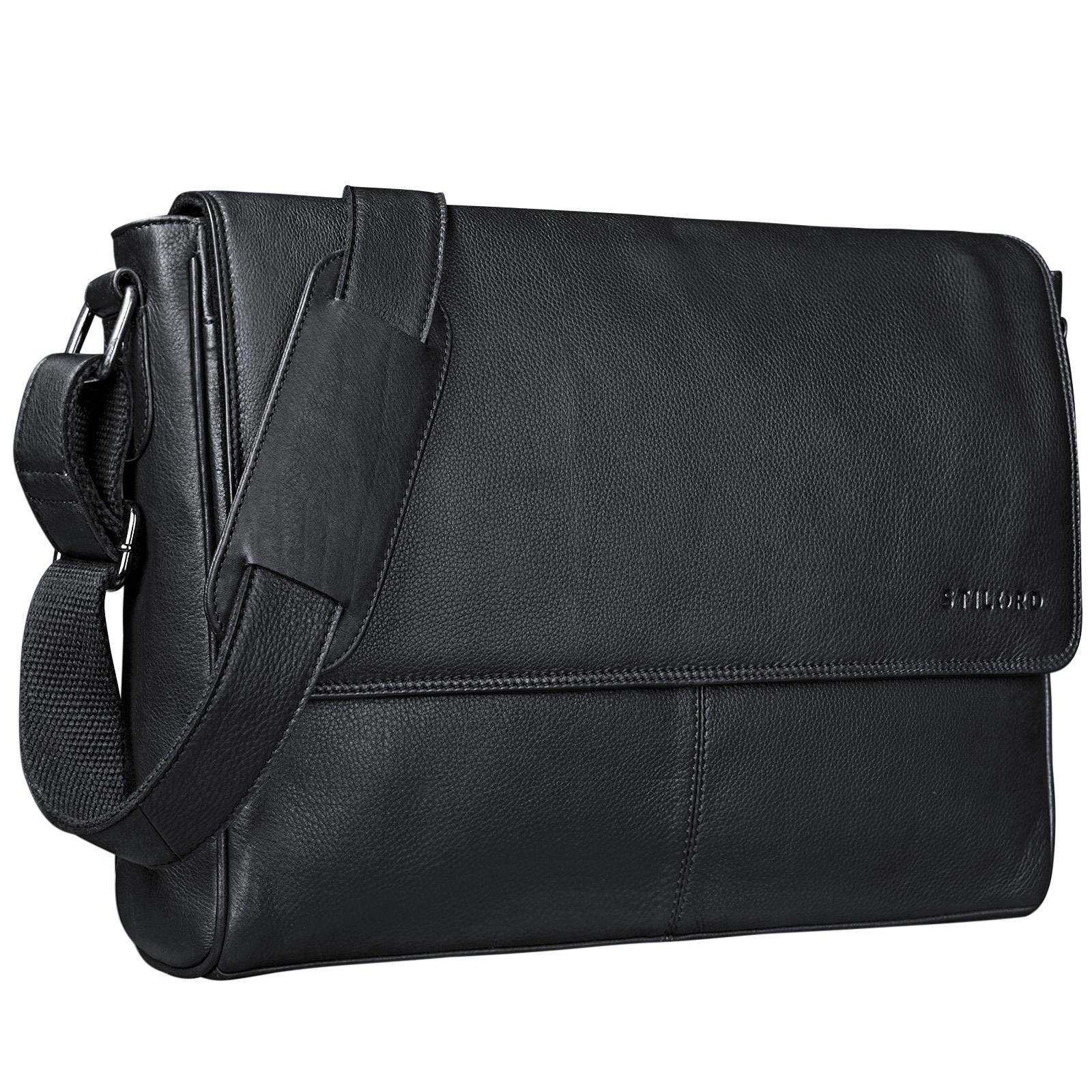 "STILORD ""Oskar"" Umhängetasche aus echtem Rinds-Leder Unisex Messenger Bag Business Unitasche Bürotasche Leder  - Bild 15"