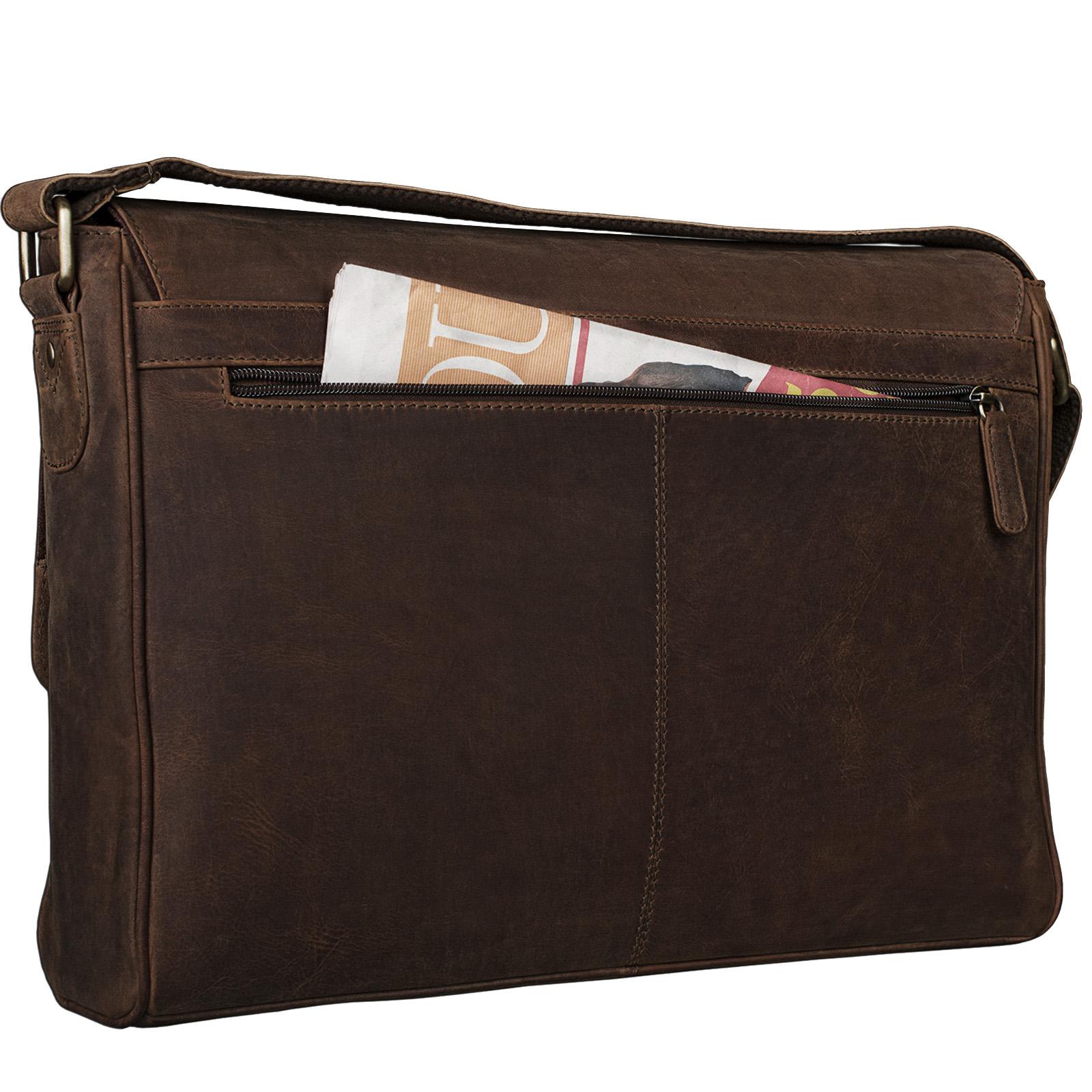 "STILORD ""Oskar"" Umhängetasche aus echtem Rinds-Leder Unisex Messenger Bag Business Unitasche Bürotasche Leder  - Bild 6"