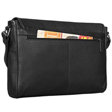 "STILORD ""Oskar"" Umhängetasche aus echtem Rinds-Leder Unisex Messenger Bag Business Unitasche Bürotasche Leder  – Bild 20"