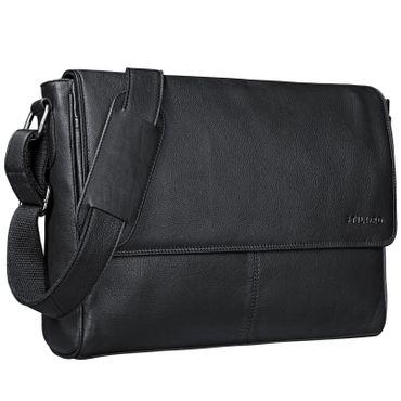 "STILORD ""Oskar"" Umhängetasche aus echtem Rinds-Leder Unisex Messenger Bag Business Unitasche Bürotasche Leder  – Bild 15"