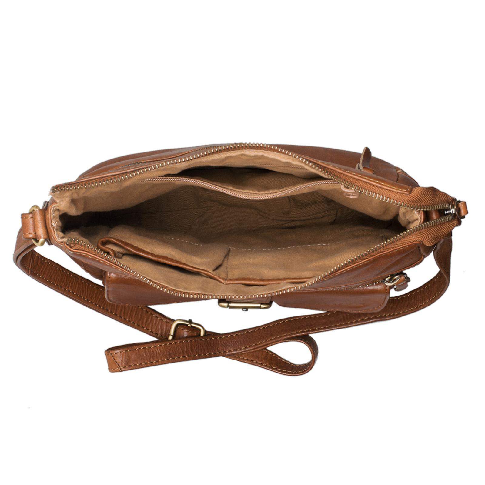 Vintage Damen Lederhandtasche braun