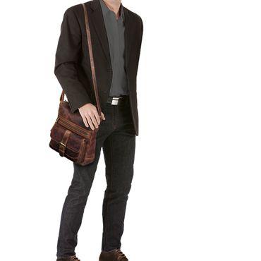 """STILORD """"Louise"""" Vintage Umhängetasche Damen Leder klein Messenger Bag Tablet-Tasche für 9.7 Zoll iPad Schultertasche DIN A5 Handtasche aus echtem Rindsleder – Bild 11"""