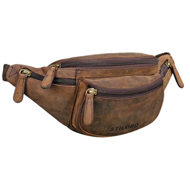 """""""Eliah"""" Riñonera o bolsa de cuero vintage"""