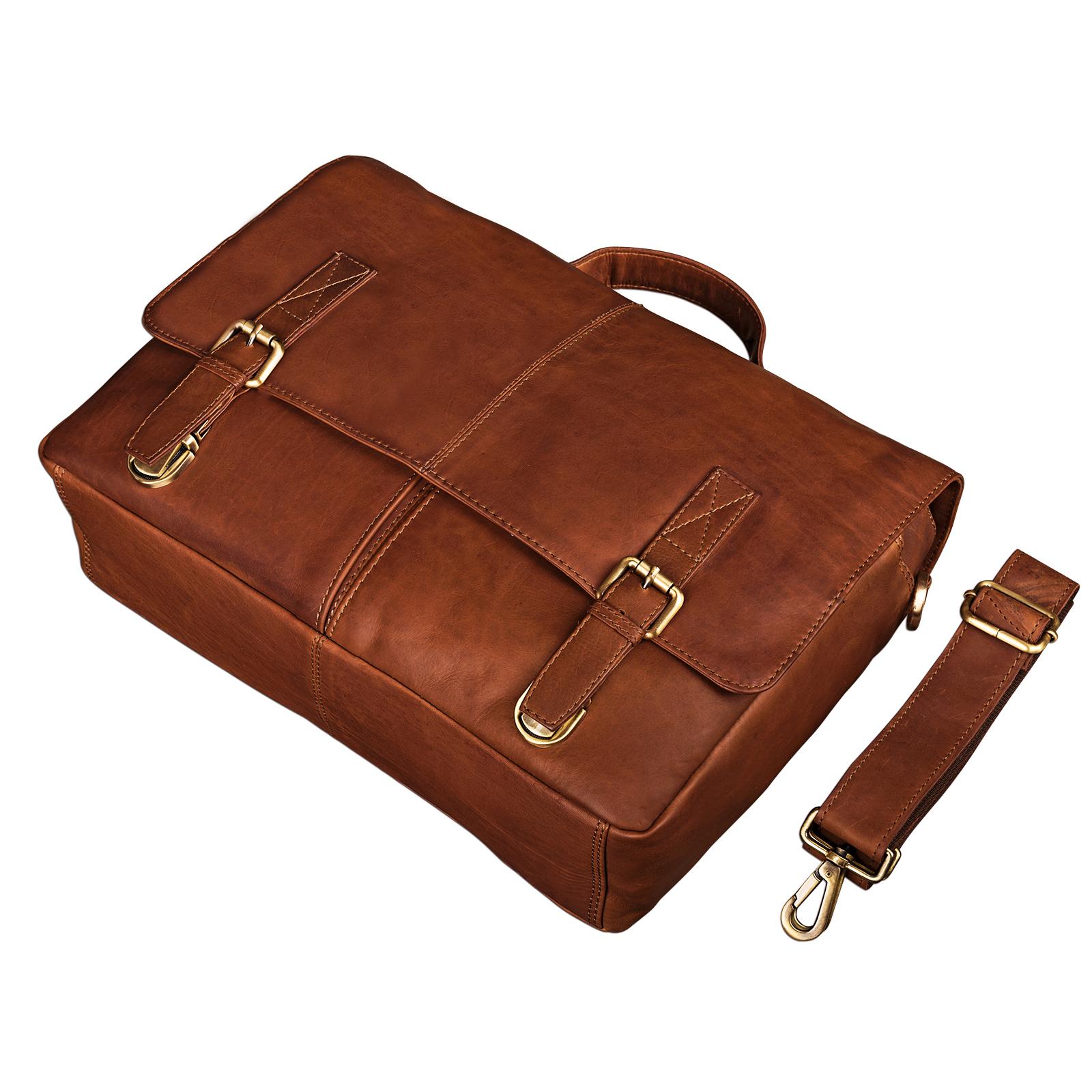 Leder Bürotasche Vintage braun