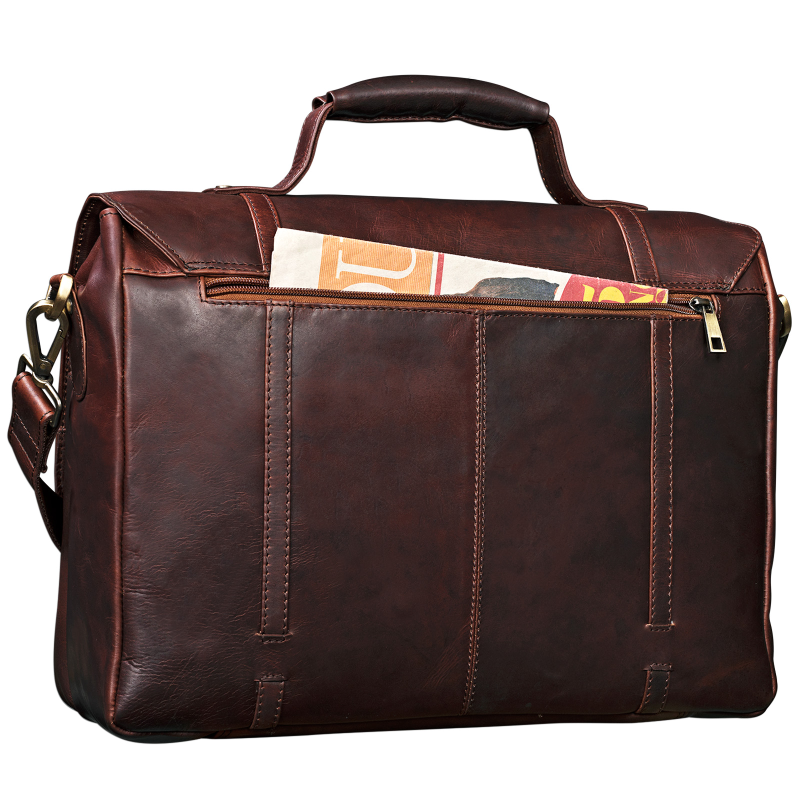"""STILORD """"Robin"""" Vintage Businesstasche Leder Aktentasche für Damen und Herren Schloss 15,6 Zoll Laptopfach elegante Umhängetasche aus echtem Leder  - Bild 8"""