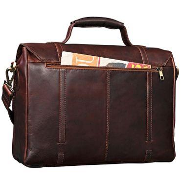 """STILORD """"Robin"""" Vintage Businesstasche Leder Aktentasche für Damen und Herren Schloss 15,6 Zoll Laptopfach elegante Umhängetasche aus echtem Leder  – Bild 8"""
