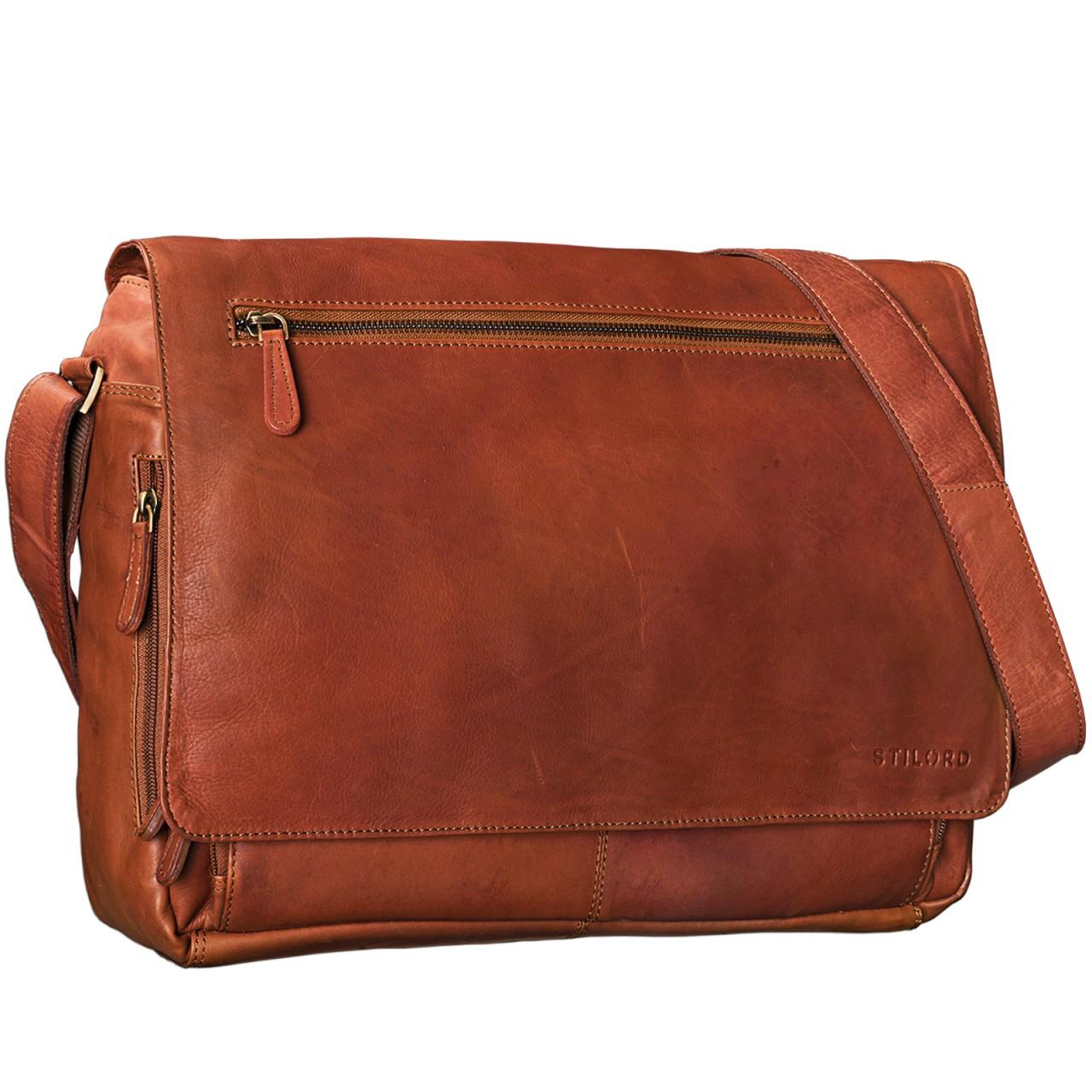 """STILORD """"Jan"""" 15,6 Zoll Laptoptasche Leder Herren Damen Umhängetasche Unitasche Aktentasche Freizeit Bürotasche weiches Vintage Leder - Bild 6"""