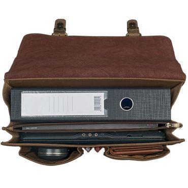 """STILORD """"Karl"""" Aktentasche Herren Lehrertasche Bürotasche Laptoptasche Umhängetasche XL Businesstasche Vintage groß aus echtem Leder  – Bild 3"""