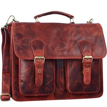 """STILORD """"Karl"""" Aktentasche Herren Lehrertasche Bürotasche Laptoptasche Umhängetasche XL Businesstasche Vintage groß aus echtem Leder  – Bild 11"""
