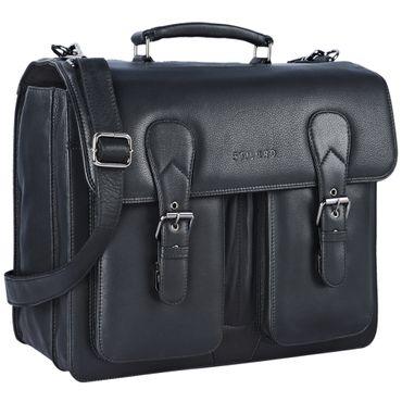 """STILORD """"Karl"""" Aktentasche Herren Lehrertasche Bürotasche Laptoptasche Umhängetasche XL Businesstasche Vintage groß aus echtem Leder  – Bild 9"""