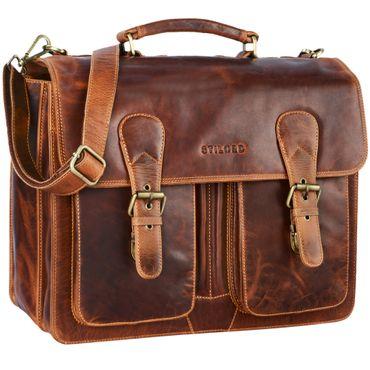 """STILORD """"Karl"""" Aktentasche Herren Lehrertasche Bürotasche Laptoptasche Umhängetasche XL Businesstasche Vintage groß aus echtem Leder  – Bild 10"""
