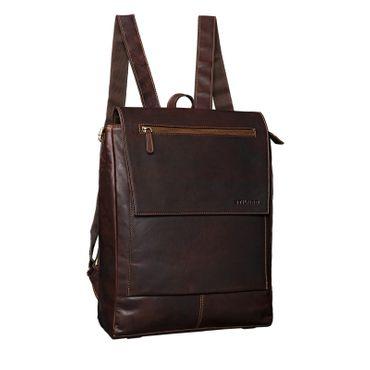 """STILORD """"Maurice"""" Rucksack Vintage Leder Damen Herren eleganter Business Rucksack für 13,3 Zoll Laptop Arbeit Uni Schule groß XL Daypack A4 echtes Büffelleder"""