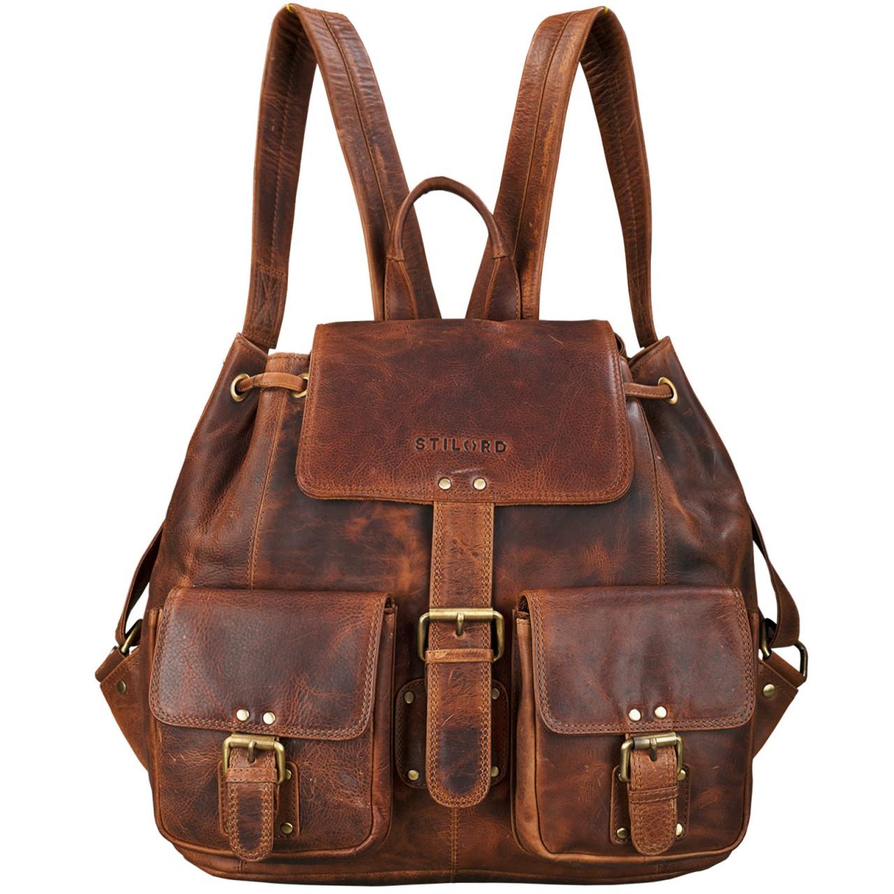 Vintage Rucksack Leder