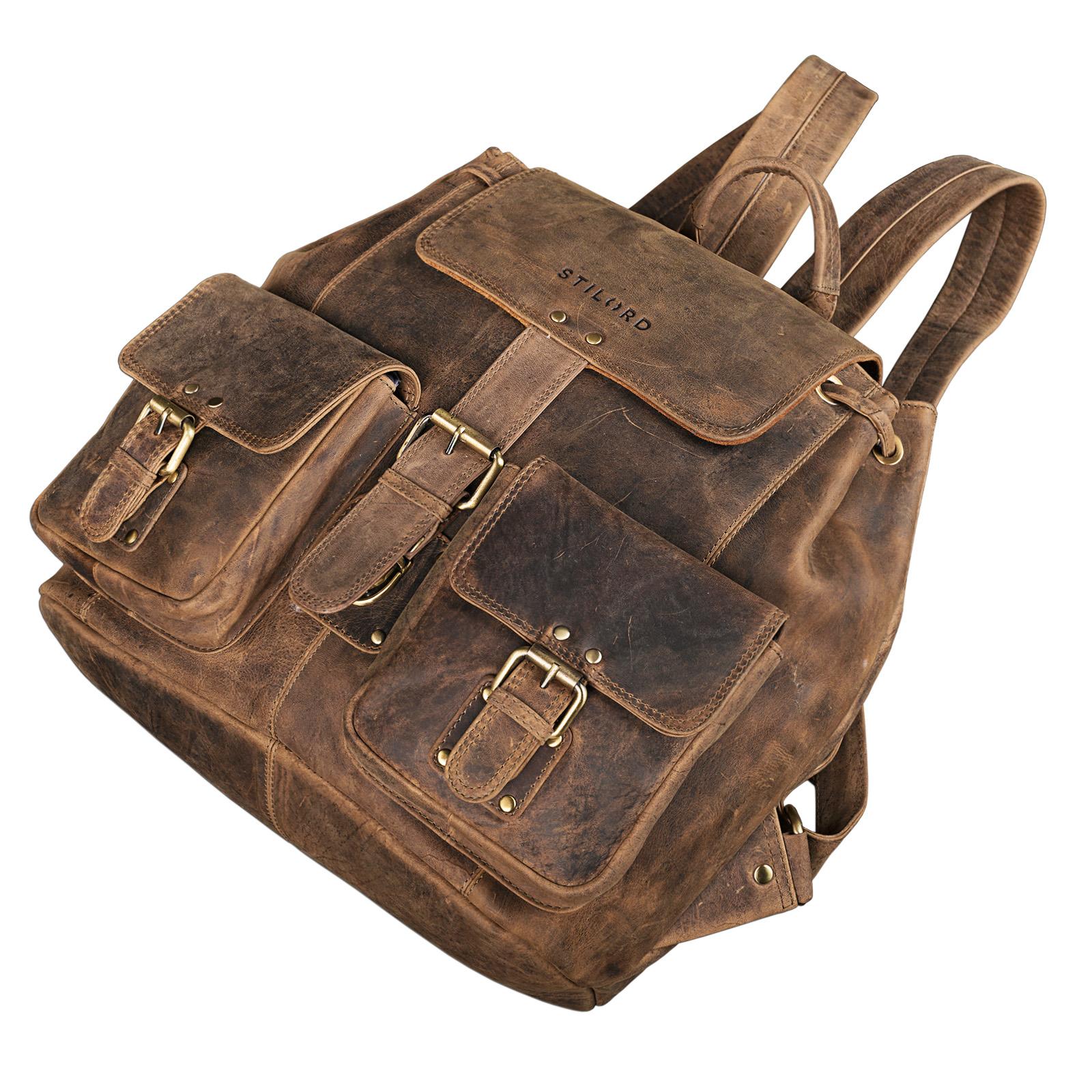 "STILORD ""Larissa"" Vintage Rucksack Leder Damen Rucksackhandtasche Lederrucksack Handtasche DIN A4 City Shopping Daypack Schule Uni - Bild 11"