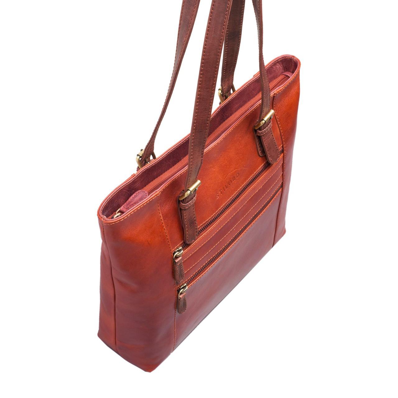 Freizeittasche für Damen Leder braun