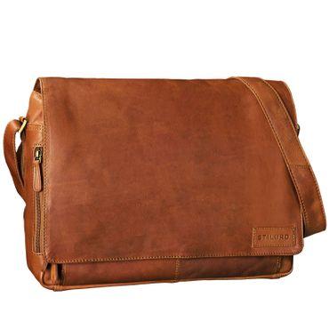 """STILORD """"Rick"""" Schultertasche Leder für 15,6 Zoll Laptop Umhängetasche Aktentasche Bürotasche Unitasche Büffel-Leder  – Bild 2"""