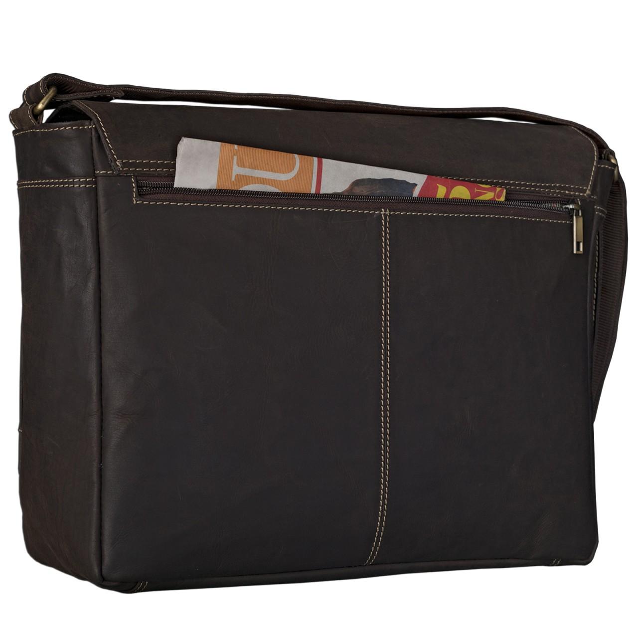 """STILORD """"Phil"""" Vintage Leder Umhängetasche für Herren und Damen Laptoptasche Unitasche Aktentasche Bürotasche Tasche echtes Leder - Bild 13"""